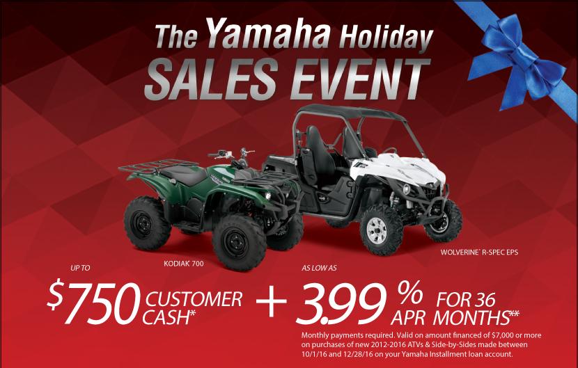 Yamaha Holiday Sales Event