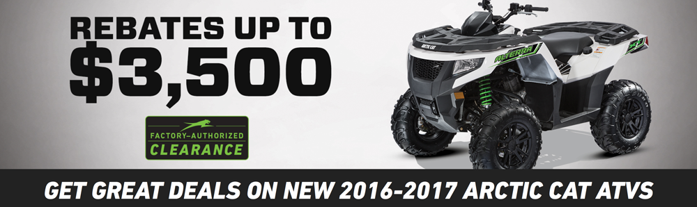 Arctic Cat Factory Authorized Clearance Event 2017