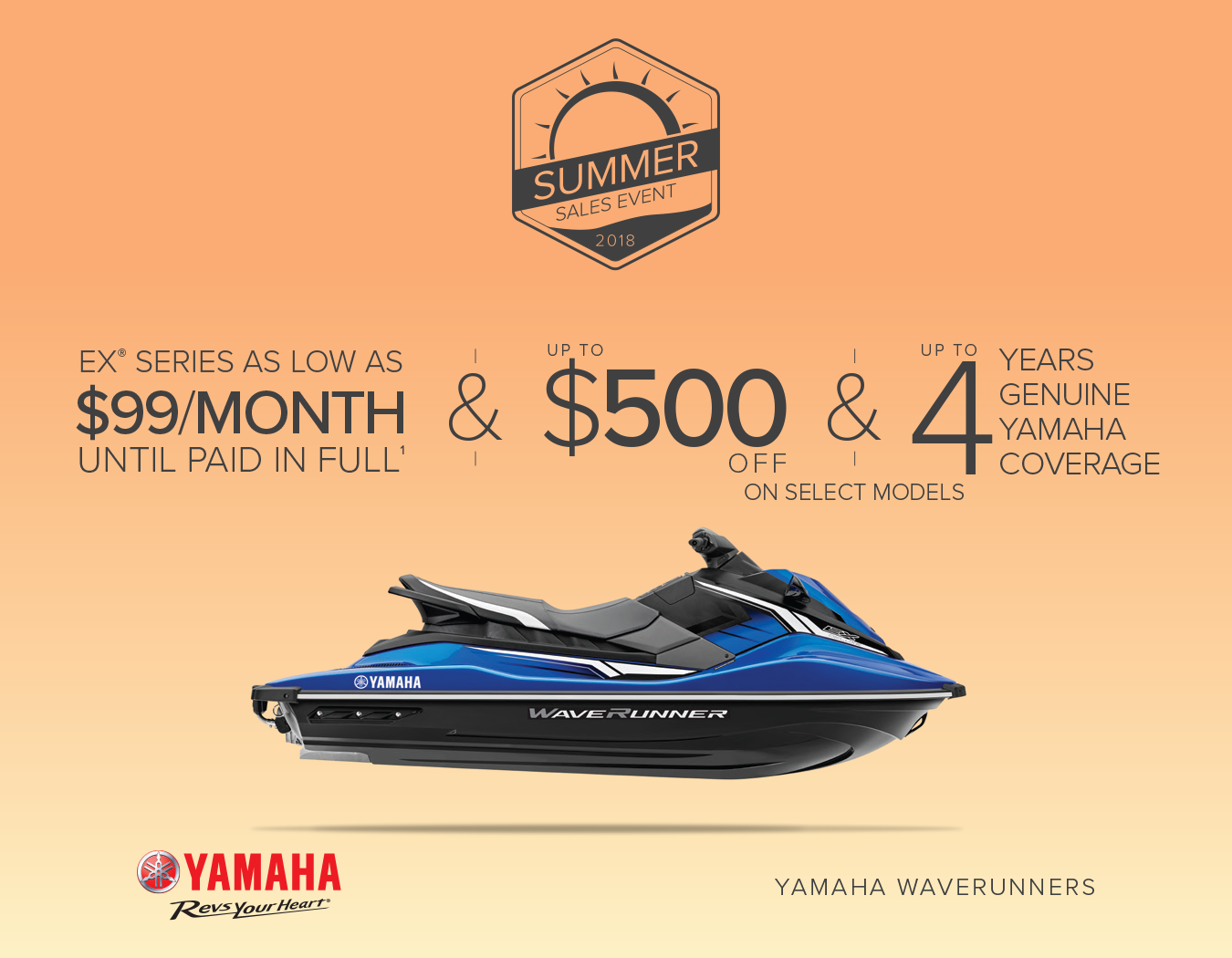 Yamaha Waverunner Summer Sales Event 2018